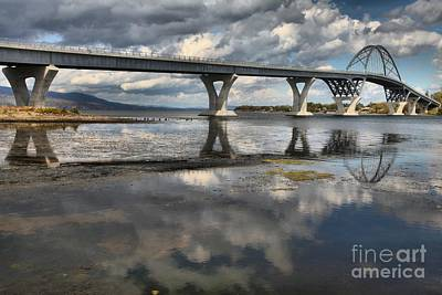 Photograph - Clouds And Reflections Over Lake Champlain by Adam Jewell