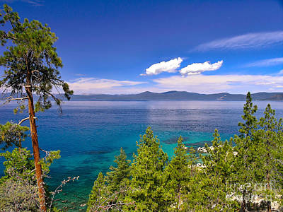 Photograph - Clouds And Silence - Lake Tahoe by John Waclo
