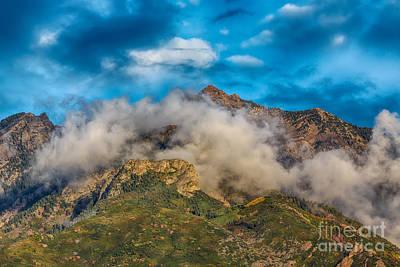 Pop Art - Clouds Around Twin Peaks HDR by Mitch Johanson