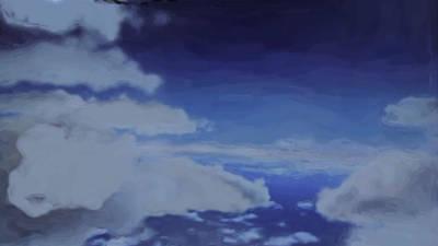 Digital Art - Clouds by Asbjorn Lonvig