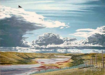 Thunder Painting - Clouds Associated With Temporary Deterioration by Gordon J Weber