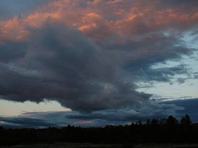 Photograph - Clouds At Sunset by Gene Cyr