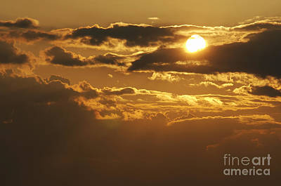 Clouds At Sunset Print by Michal Boubin
