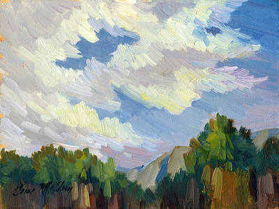 Clouds At Thousand Palms Art Print by Diane McClary