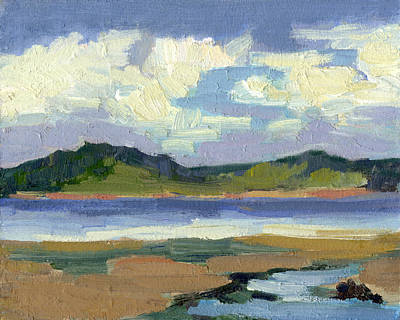 Painting - Clouds At Vashon Island by Diane McClary