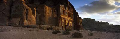 Jordan Photograph - Clouds Beyond The Palace Tomb, Wadi by Panoramic Images