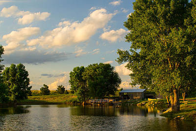 Photograph - Clouds By The Pond by Nathan Hillis