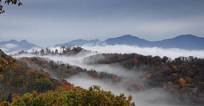 Clouds Fill A Mountain Valley That Art Print
