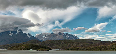Grey Clouds Photograph - Clouds Fill The Sky Above Mountains by Panoramic Images