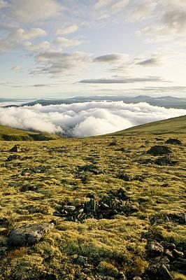 Tron Wall Art - Photograph - Clouds Fill The Valleys Surrounding by Robert van Waarden