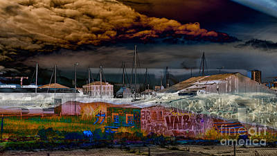 Economic Crisis Digital Art - Clouds Gathering Over The Mediterranean by Jay Ressler
