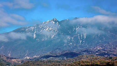 Ojai Wall Art - Photograph - Clouds Go By Mountain Top In Ojai by Panoramic Images