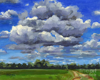 Painting - Clouds Got In My Way Sold by Nancy  Parsons