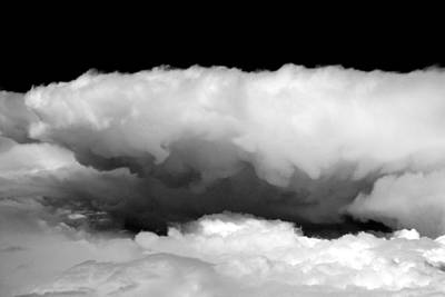 Black And White Photograph - Clouds In Black And White by John Daly