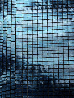 Blue Hues - Clouds in Glass by Lovina Wright