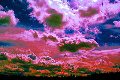 Photograph - Clouds In Spokane In Cosmicolors by Ben Upham III