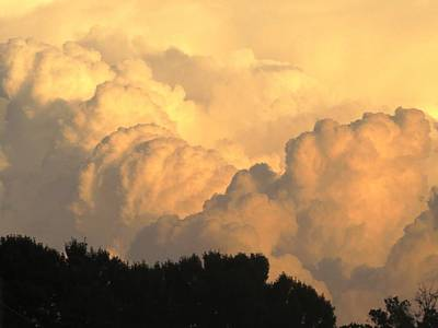 Clouds In The Evening Art Print by Zina Stromberg