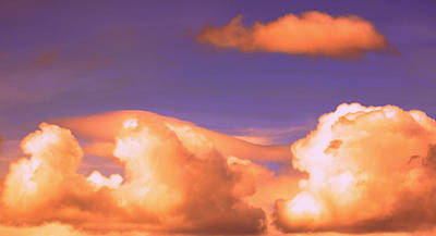 Clouds In Trouble Art Print by Heather L Wright