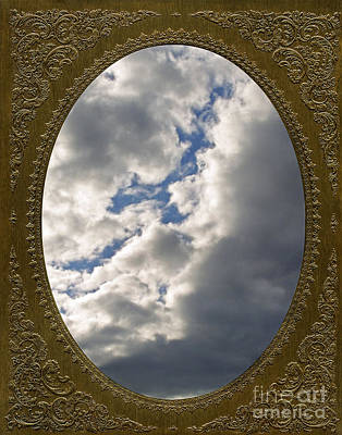 Photograph - Clouds In Vintage Metalic Frame by Phil Cardamone