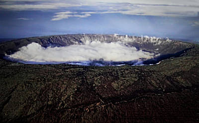 Creator Photograph - Clouds In Volcanic Creator by Linda Phelps