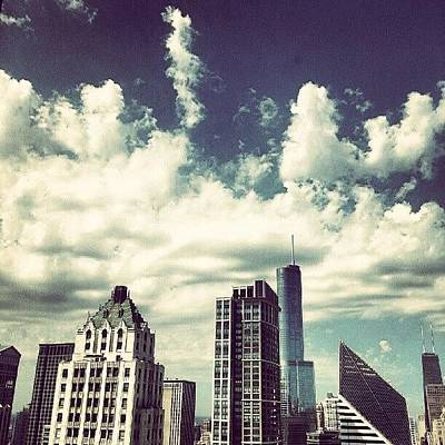 Architecture Wall Art - Photograph - Clouds by Jill Tuinier