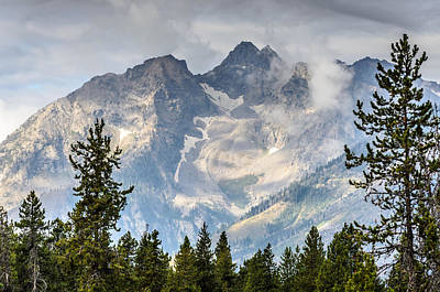 Photograph - Clouds Lifting From Teton by Debra Martz