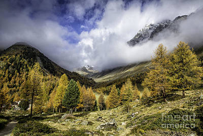 Clouds Of Pontresina Switzerland Print by Timothy Hacker