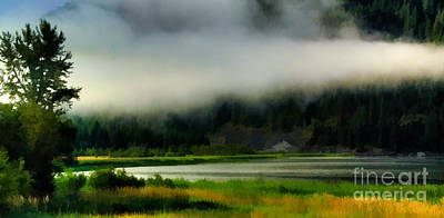 Photograph - Clouds On Blue Lake by Sam Rosen