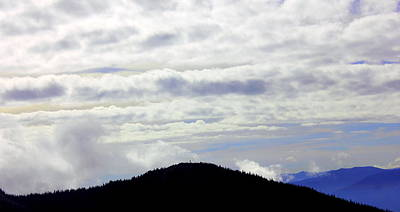 Clouds On Mountains Print by Mavis Reid Nugent
