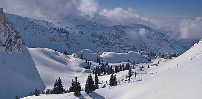 Big Cottonwood Canyon Photograph - Clouds On Ridge, Mill B So Fork, Big by Howie Garber