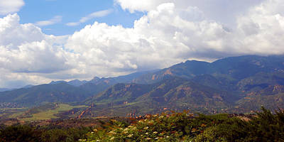 Photograph - Clouds On The Mountains by Ann Powell