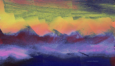 Clouds On The Mountains Art Print