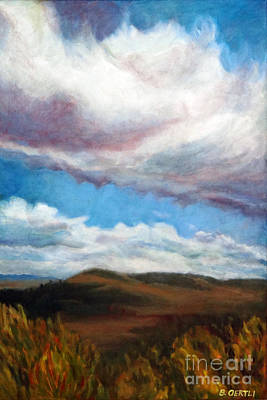 Painting - Clouds On The Ridge by Barbara Oertli
