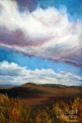Painting - Clouds On The Ridge by Barbara Oertli