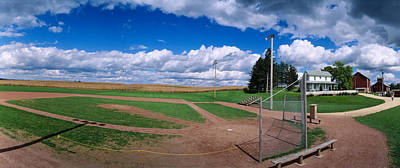 Clouds Over A Baseball Field, Field Art Print by Panoramic Images