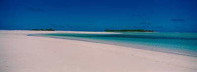 Clouds Over A Beach, Aitutaki, Cook Art Print by Panoramic Images