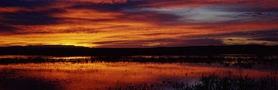 Clouds Over A Lake, Bosque Del Apache Print by Panoramic Images