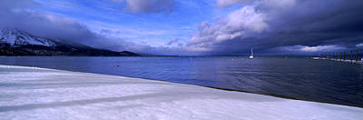 Clouds Over A Lake, Lake Tahoe Print by Panoramic Images