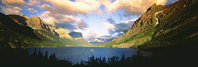 Clouds Over A Lake, St. Mary Lake Art Print