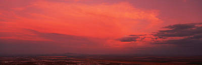 South Mountain Photograph - Clouds Over A Landscape At Sunset by Panoramic Images