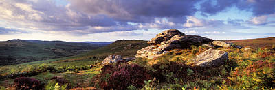 Clouds Over A Landscape, Haytor Rocks Print by Panoramic Images