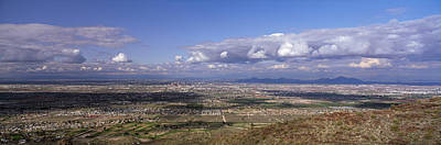 Clouds Over A Landscape, South Mountain Print by Panoramic Images