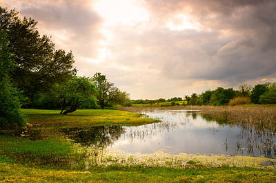 Dreamy Photograph - Clouds Over A Pond At Washington On The Brazos - Texas by Ellie Teramoto