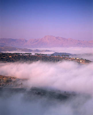 Ronda Photograph - Clouds Over A Valley, Guadalevin by Panoramic Images