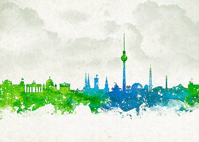 Tower Digital Art - Clouds Over Berlin Germany by Aged Pixel