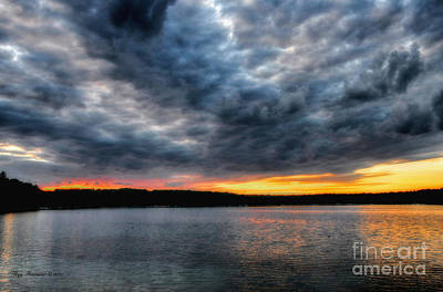 Art Print featuring the photograph Clouds Over Big Twin Lake by Trey Foerster