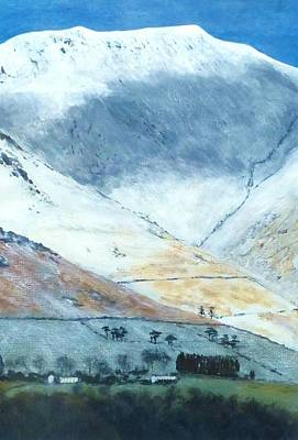 Stonewall Painting - Cloud Shadows Over Blencathra by Nigel Radcliffe