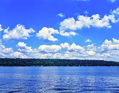 Clouds Over Cayuga Lake, Finger Lakes Art Print