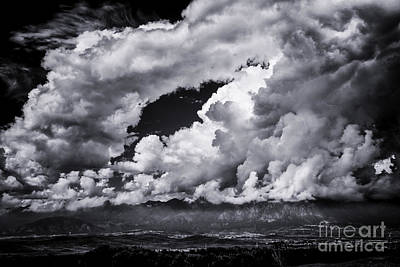 Photograph - Clouds Over Colorado Mtns by David Waldrop