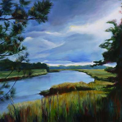 Conestoga Painting - Clouds Over Conestogo River by Sheila Diemert